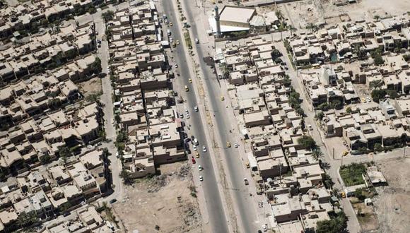 Las calles y las casas de Bagdad, Irak. Foto: Reuters