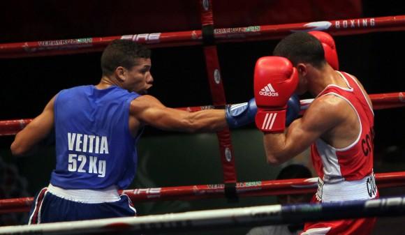 Yosbany Veitia Oro en 52 kg. Foto: Ismael Francisco/Cubadete.