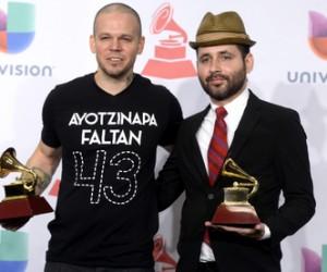 Calle 13 en los Grammy Latinos.
