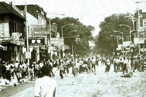 Protestas en Detroit 1967. Foto: Archivo