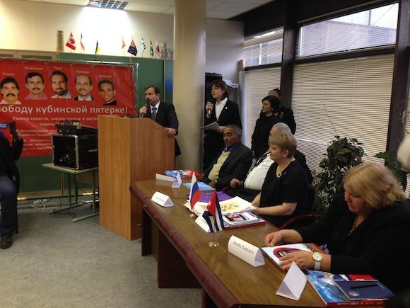 Fernando interviene en un encuentro en Moscú dedicado a los Cinco.