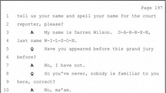 Hay contradicciones entre lo que Wilson dijo a los agentes que lo interrogaron y su testimonio para el gran jurado. Foto: BBC Mundo