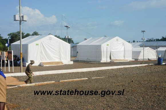 Hospital de Campaña contra el ébola recién abierto en Sierra Leona.