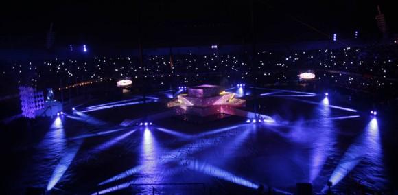 """Con un estadio Luis """"Pirata"""" Fuente abarrotado, dio inicio la ceremonia de inauguración de los XXII Juegos Deportivos Centroamericanos y del Caribe Veracruz 2014. Foto: Ismael Francisco/ Cubadebate"""