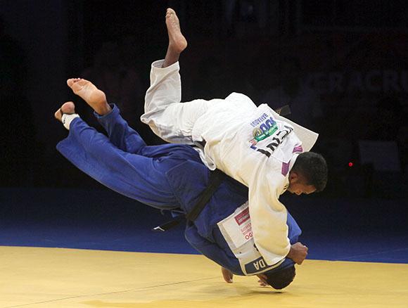 Oro para el equipo cubano masculino de Judo. Foto: Ismael Francisco / Cubadebate