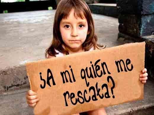 Los hijos de la pobreza en España. Foto: Tres24.com