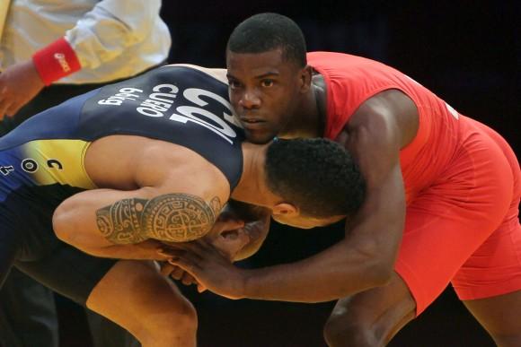 Oro para Miguel Martinez en la Lucha Greco-Romana en la division de los 66 kg. Foto: Ismael Francisco/Cubadebate.