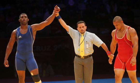 Oro para Pablo Shorey en la Lucha Greco-Romana en la division de 85kg. Foto: Ismael Francisco/Cubadebate
