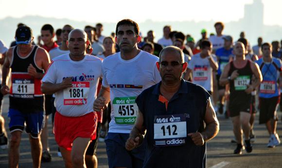 Edición 28 de Marabana 2014, que festeja el aniversario 495 de la fundación de la Villa de San Cristóbal de La Habana y el día de la cultura física y el deporte. Foto: Ladyrene Pérez/ Cubadebate.