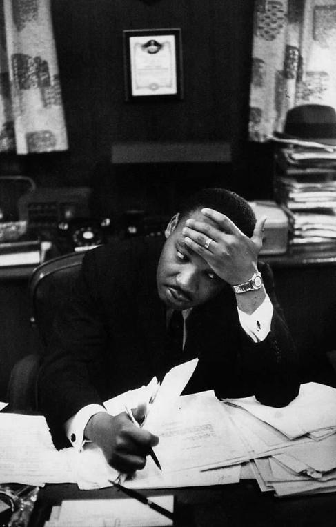 Luther King, Retratado por Cartier-Bresson, en una imagen del 'Un silencio interior'