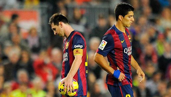 Messi y Luis Suárez, en el partido ante el Celta. Foto: Vicens Giménez.