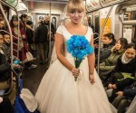 matrimonio en metro de New York