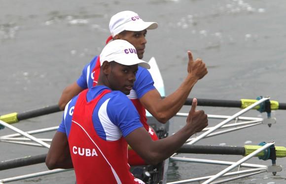 Liosbel Hernández y Raúl Hernández, Oro en doble par cortos, peso ligero. Foto: Ismael Francisco/Cubadebate.