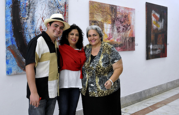 Ernesto Roldán Revueltas, Moura Revueltas y Eugenia Montalván. Foto: Ladyrene Pérez/ Cubadebate