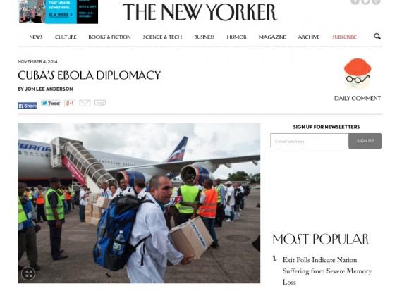 the new yorker ebola cuba usa