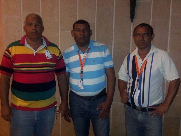 Enfermeros cubanos en Libera. Foto: Ronald Hernández Torres/ Facebook