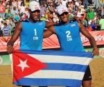 Voleibol de playa M oro para cuba Nivaldo Diaz y Sergio Gonzalez. Foto: Ricardo López Hevia / Granma / Cubadebate