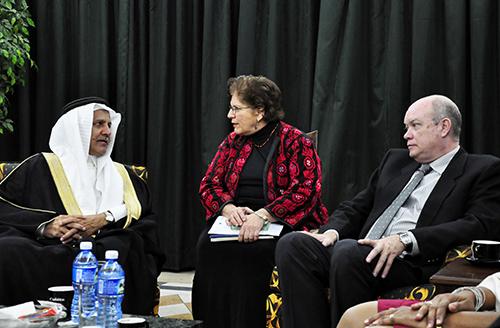 Sr. Rodrigo Malmierca, Ministro del Comercio Exterior y el Sr. Yousef Ibrahim Al-Bassam Director Director del Fondo Saudita para el Desarrollo. Foto: Roberto Garaicoa.