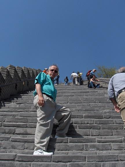 Jorge cuando escalaba la Gran Muralla China.