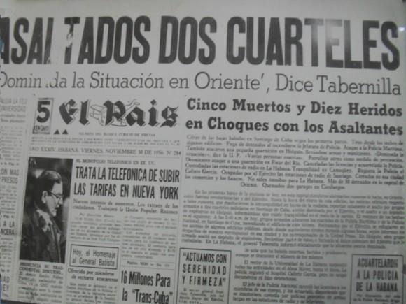 """Periódico """"El País"""" también se hace eco de los hechos ocurridos en Santiago de Cuba y las medidas tomadas en la Capital de la Republica. Fuente: Bohemia / Archivo."""
