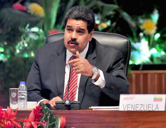 Nicolás Maduro, presidente de Venezuela, interviene en el plenario de la Cumbre. Foto: Ricardo López Hevia/ Granma