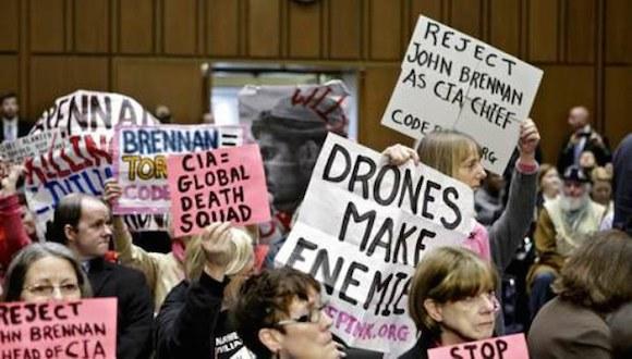 Activistas contra el militarismo en Estados Unidos, en imagen de archivo. Foto Ap