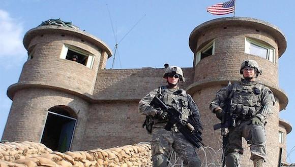 Soldados norteamericanos en la prisión de Bagram.