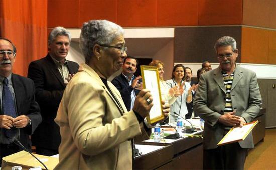 En la celebración, en la que participó el Primer Vicepresidente de los Consejos de Estado y de Ministros, Miguel Díaz-Canel, se entregaron reconocimientos a trabajadores destacados.Autor: Oriol de la Cruz / AIN