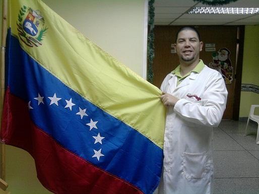 Enmanuel durante su misión en Venezuela.
