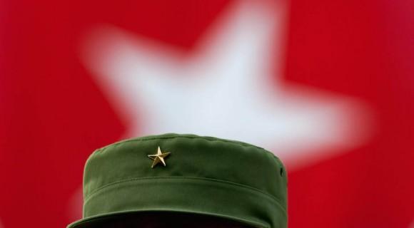 Fidel en acto por el aniversario de los CDR. Foto: Roberto Chile/ Cubadebate