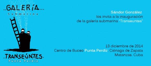 Invitación_galería submarina sandor gonzález