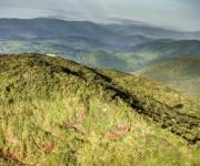 Fotografía aérea de la Sierra del Cristal, accidente orográfico ubicado entre la Sierra de Nipe y las Cuchillas del Toa, en el macizo montañoso Nipe-Sagua-Baracoa, constituye la mayor altura de la actual provincia de Holguín, Cuba. Foto: Juan Pablo Carreras / Cubadebate