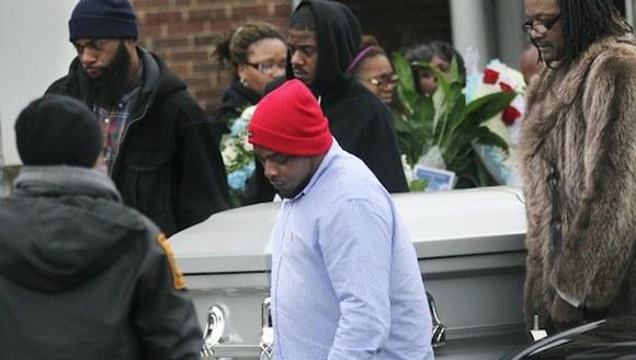 Funeral de Tamir Rice, el niño de 12 años de edad, quien murió por los disparos de un policía en Cleveland. Imagen del 03 de diciembre de 2014. Foto Ap