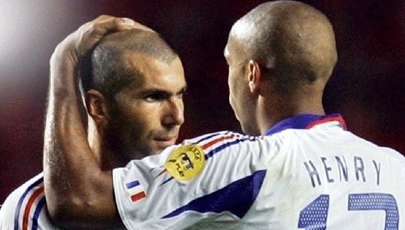 Henry y Zidane con la selección francesa. Foto: Archivo.