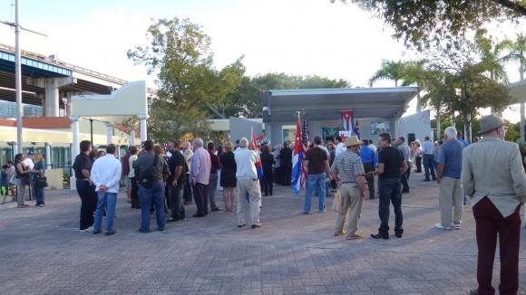 Acto de la extrema derecha en Miami. Foto: Radio Miami