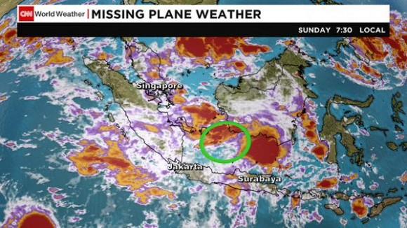 """""""El tiempo no era bueno, era malo, en el lugar donde se perdió el contacto. Acabamos de recibir un boletín de la agencia nacional de meteorología, geofísica y climatología"""", dijeron autoridades de Indonesia."""