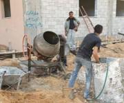Estos trabajadores están dedicados a la construcción de un nuevo hospital de la UNWRA. Foto: BBC Mundo
