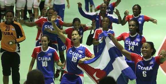 Gana medalla de Oro equipo cubano de Balonmano femenino. Foto: Ismael Francisco/ Cubadebate.
