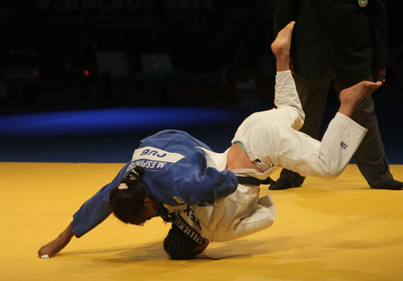 Maricet Espinosa Oro en 63 kg del Judo. Foto: Ismael Francisco/ Cubadebate.