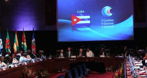 Inauguración de la Cumbre Cuba Caricom. Foto: Ismael Francisco/Cubadebate.
