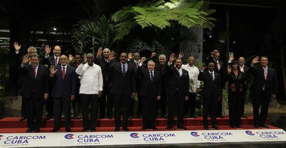 Foto Oficial de la Cumbre Cuba Caricom. Foto: Ismael Francisco/Cubadebate.