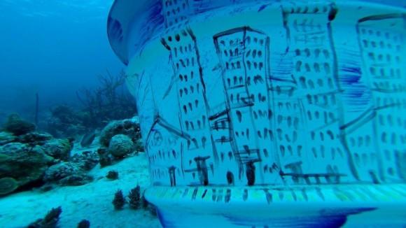 Galería submarina TRANSEÚNTES. Foto: Cortesía de Sándor González.