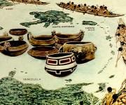 Hipótesis de arribo de las comunidades aruacas al área antillana basada en los análisis de estilos cerámicos de la escuela normativista norteamericana.