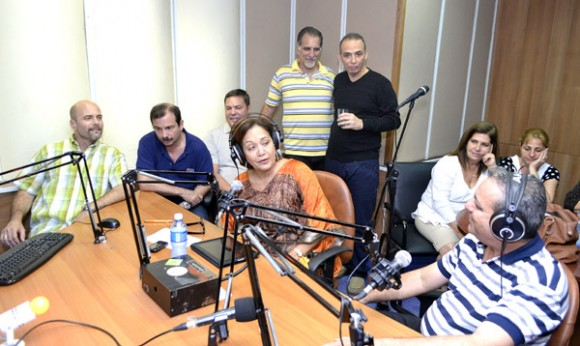 Los Cinco en Radio Rebelde.