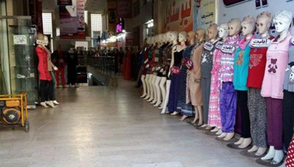 En el mercado de al-Ramal faltan los clientes y las mercancías. Foto: BBC Mundo