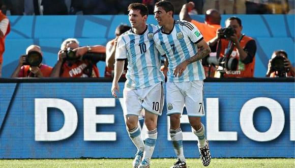 Messi y Di María.