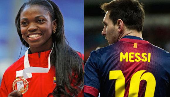 La triplista colombiana Caterine Ibargüen y el futbolista argentino Lionel  Messi acapararon este lunes los premios a los mejores deportistas de ... d53c1e29abcb9