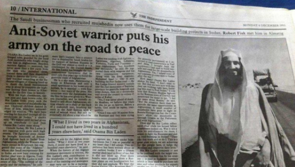 osama bien laden en la prensa occidental