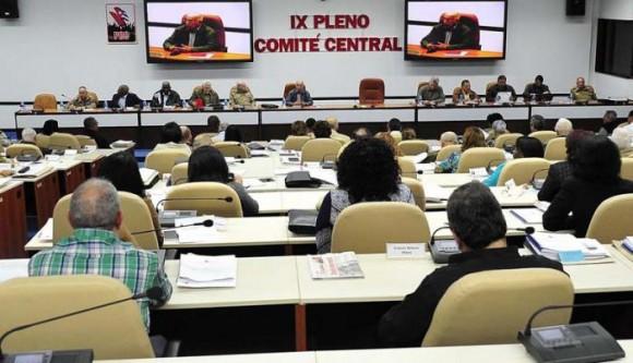 Sesionó IX Pleno del Comité Central del Partido
