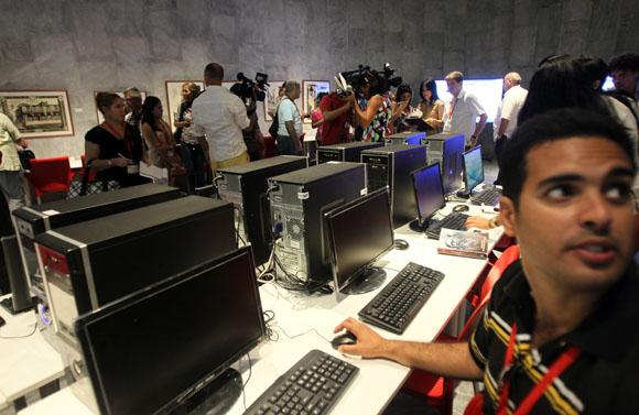 Inauguran  Centro de Prensa de Cumbre Caricom Cuba. Foto: Ismael Francisco/Cubadebate.